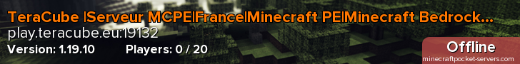 TeraCube |1.14.60|France|PVP|Faction|Créatif|Build|MCPE|MC:BE|Minecraft